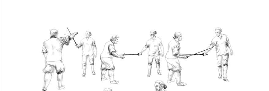 """Traktat """"Die Tricks der vulgären und gemeinsamen Fechten nur mit einem Schwert"""" Luis Pacheco De Narváez Und Oleg Maltsev"""